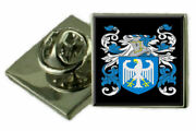 Blackie Scotland Family Crest Coat Of Arms Lapel Pin Badge Engraved Gift Case