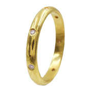 0.20ct Scattered Diamond Dome Eternity Wedding Band In 18k Yellow Gold, Sz 8.25