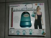 Empower 3-in-1 Kettlebell Weight Set 5 8 12 Pounds Dvd Workout Tone Core Stamina