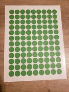 10,800 Green Removable Blank Garage Yard Sale Stickers Labels Tags Sale