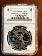 2009 Great Britain Silver 5 Pound Coin Countdown Olympics Ngc Pf70 Ultra Cameo