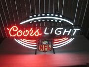 Coors Light Beer Nfl Football Sign Neon Lighted Rare Nice Local Pickup Only