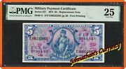 Jcandc - Series 521 5 Mpc Military Payment Certificate Replacement - Pmg Vf 25