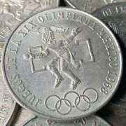 1968 Mexico 25 Pesos Olympic Games Eagle And Snake Silver Mexican Coin