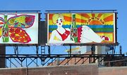 1969 21x10and039 7up Uncola Un In The Sun Billboard Poster Pat Dypold Soda Sign Ad