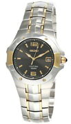 Seiko Coutura Black Dial 43mm Two-tone Ss Menand039s Watch Sgeb76