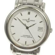 Ulysse Nardin San Marco Automatic Menand039s White Dial Ss Date From Japan [e0514]