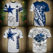 Dallas Cowboys Short Sleeve T Shirt Mens Summer Shirts Football Tee Top Gifts