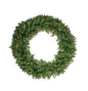 Northlight 24 Pre-lit Northern Pine Artificial Christmas Wreath - Clear Lights