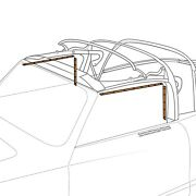 1956-1974 Vw Ghia Convertible Top And Seals Retaining Strips 4 Pieces 391557