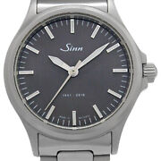 Wristwatch Sinn 1961-2016 556.jub Menand039s Used Silver Charcoal Gray Automatic 38mm