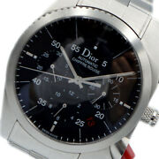 Wristwatch Christian Dior Siful Rouge Chrono Cd084610 Menand039s Used Silver Black
