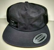 Hurley Menand039s Hat Yacht Club Tonal Black Trucker Cap One Size Snap Back