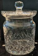 Waterford Crystal - Barrel Start Covered Biscuit Jar - 6 Inches