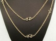 14k Yellow Gold Rolo Circle Chain Necklace 44 Wrap Around 20492