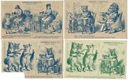 4 Johnson Clark And Co Orange Mass New Home Sewing Machine Trade Cards Fox And Kids