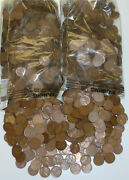 1500 Wheat Pennies 1909 - 1958 Dates Vary Unsearched Apprx 10 Lbs