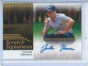 2021 Ud Artifacts Golf Justin Thomas Scratch Signatures Auto Rc Ssp 11800 Grp A