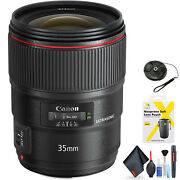 Canon Ef 35mm F/1.4l Ii Usm Lens For Canon Ef Mount + Accessories Intl Model M