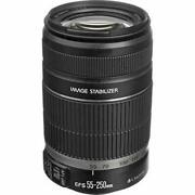 Canon Ef-s 55-250mm F/4-5.6 Is Telephoto Zoom Lens 55mm To 250mm F/4 To 5.6 Cat