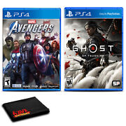 Marvels Avengers And Ghost Of Tsushima For Playstation 4 - Two Game Bundle