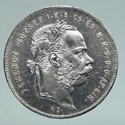 1879 Hungary W King Franz Joseph I Hungarian Genuine Silver Forint Coin I91555