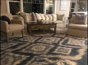 New 9andrsquo X 12andrsquo Area Rug Williams Sonoma Brand / Pottery Barn -wool Hand Knot/india