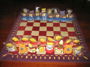 Pottery Barn Kids Chess / Checkers Area Rug 5x5 Complete With All Pieces Rare