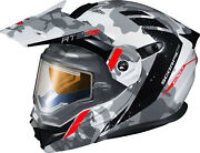 Scorpion White/grey Sm Exo-at950 Outrigger Helmet W/electric Shield 95-1623-se