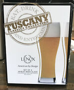 Lenox Tuscany Classics Collection - Wheat Beer Glass Set Of 4 - New In Box