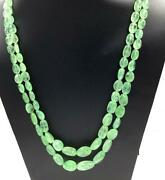 Natural Russian Emerald Gemstone Tumbled Necklace