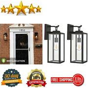 2 Pack Outdoor Wall Lantern Fixtures Exterior Porch Light Architectural Sconce