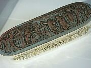 Antique 18th Century Dutch Silver Plated Brass Tobacco Box/ Snuff Box. 249 Gram