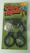Vintage The Crime Fighter Toy Set With Pistol Badge And Cuffs Toys R Us