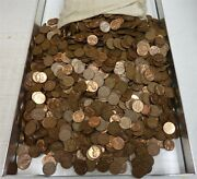 6000 Lincoln Memorial 95 Copper Pennies Apprx 40lbs Dates Vary - 1959-1982