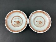 Furnivals Quail Brown Transferware Set Of Two 2 3 Butter Pats