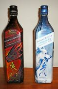 Game Of Thrones Johnnie Walker Scotch Song Of Fire And Song Of Ice 2 Empty Bottles