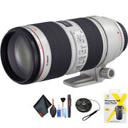 Canon Ef 70-200mm F/2.8l Is Ii Usm Lens For Canon Ef Mount + Accessories Intl M