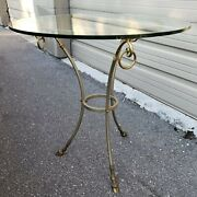 Maison Jansen Deer Hove Table Stainless Steel And Brass Queridon Table