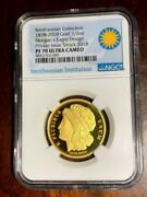 2018 Smithsonian Morgan Eagle Pattern Gold Medal, Ngc Pf70 Ultra Cameo,1/2 Ounce