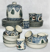 Folk Craft Cabin In Snow -select Choice- Dinner/salad/gravy/cereal/vegetable