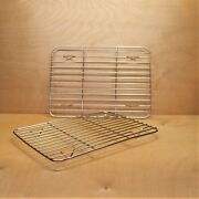 Small Stainless Steel Cooling Racks 2 Pack Baking Racks Size 8.6x6.2x0.5 Inch