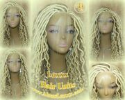 613 Platinum Wavy Marley Dred Lace Closure Lace 4x4 Wig Baby Hair New Braids