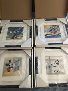 Disney Art Collectible Mickey Through The Years Serigraph Series Complete Set Le