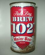 Old Maier Brew 102 Flat Top Beer Can Los Angeles California