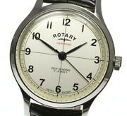 Rotary Heritage Leather Belt Gs05125 / 32 Automatic Silver Dial Mens Watch U0516