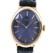 Wristwatch Schaffhausen Womenand039s Used Black Gold Navy Manual Leather