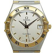 Wristwatch Omega Constellation 1312.30 Menand039s Used Siver Gold Roman Numerals