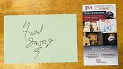 Fred Savage Signed Autographed 4x6 Card Jsa Certified The Wonder Years