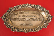 1901 Union League Of Philadelphia Founders Day Banquet Tip Dish Sterling Ashtray